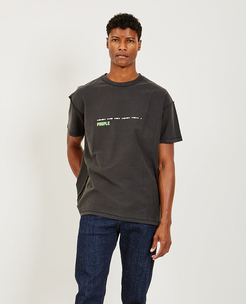 Relaxed Fit Tee Grid Black-PURPLE BRAND CO-American Rag Cie