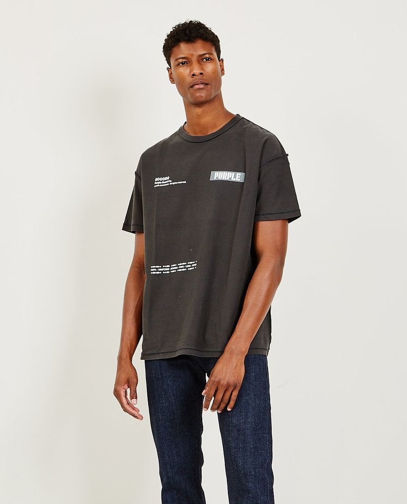 PURPLE BRAND CO Relaxed Fit Tee Triple Purple