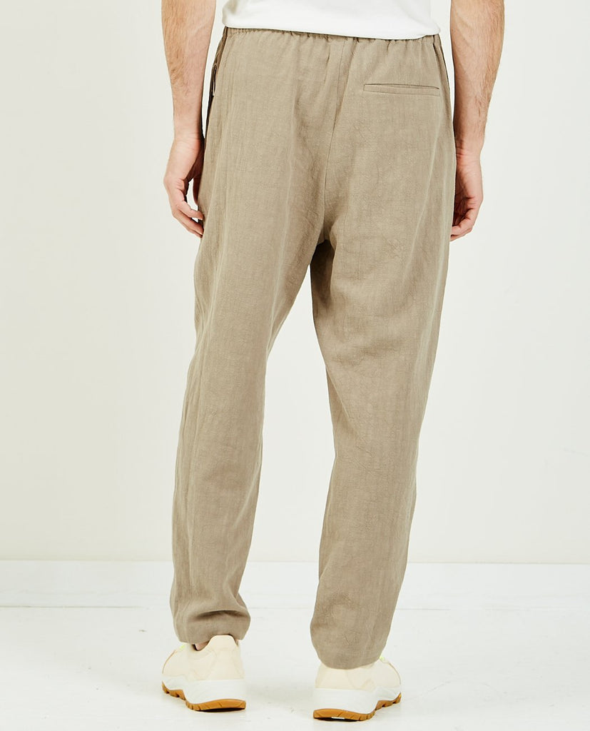 SK MANOR HILL-Rem Pant Taupe Ramie-Men Pants-{option1]