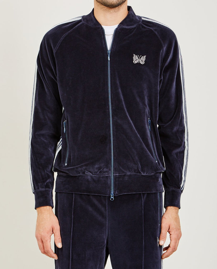 NEEDLES-RIB COLLAR TRACK JACKET-Men Coats + Jackets-{option1]