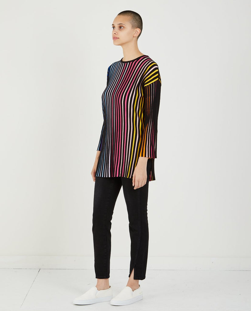 RIB-KNIT COLOR BLOCK TOP-KENZO-American Rag Cie