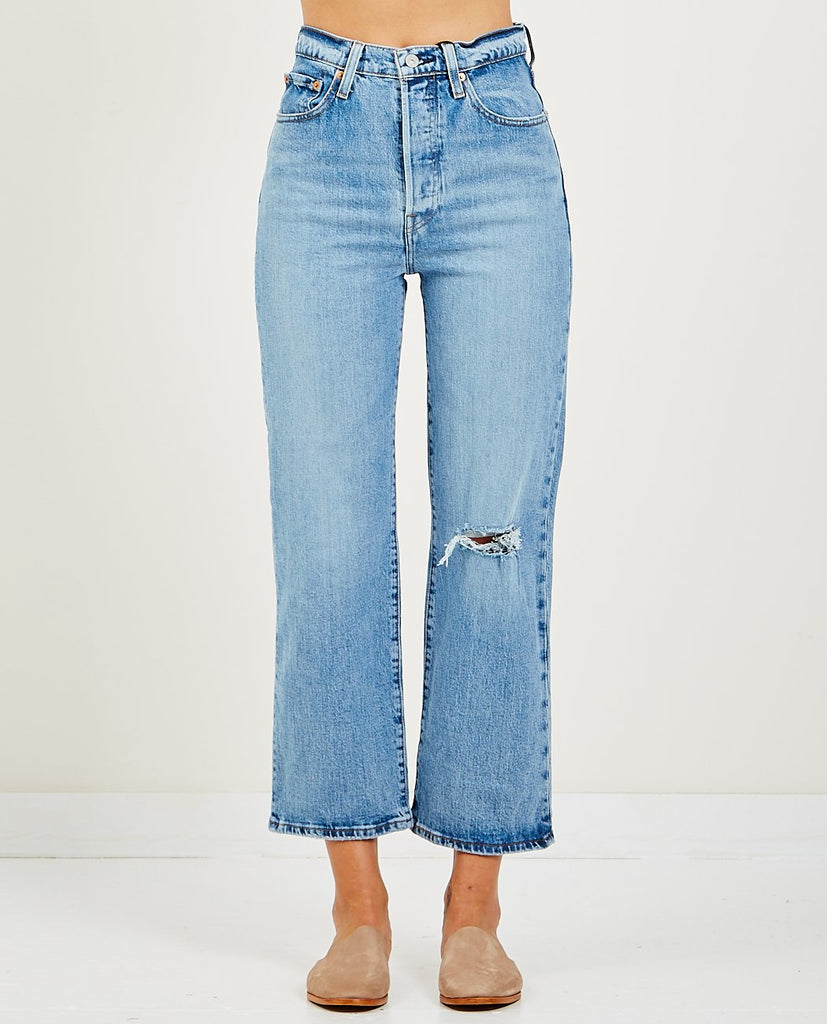 LEVI'S-RIBCAGE JEAN HATERS GONNA HATE-Women Straight-{option1]