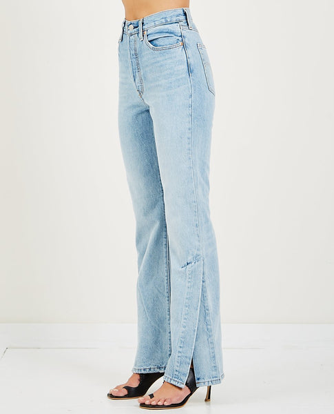 LEVI'S RIBCAGE SPLIT FLARE DAZED AND CONFUSED