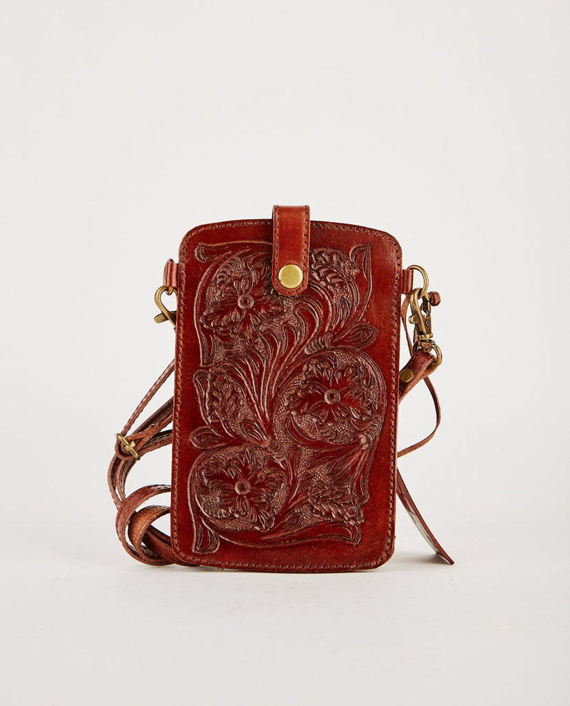 RIO TOOLED LEATHER CELL CASE-R.P.S.-American Rag Cie
