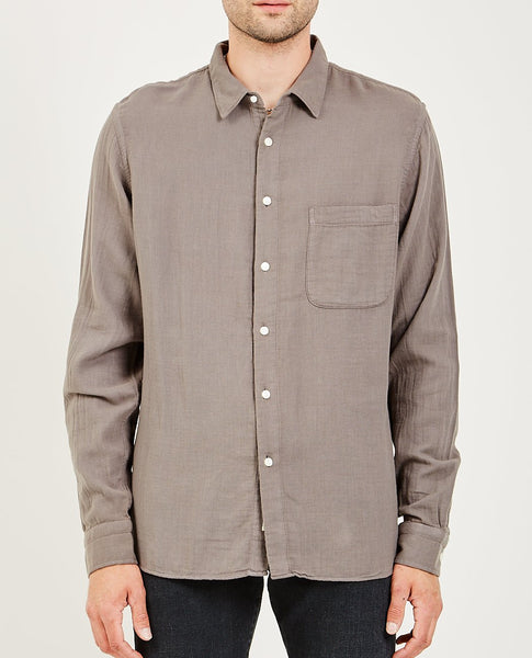 KATO RIPPER L/S SHIRT VINTAGE DOUBLE GAUZE CHARCOAL GREY