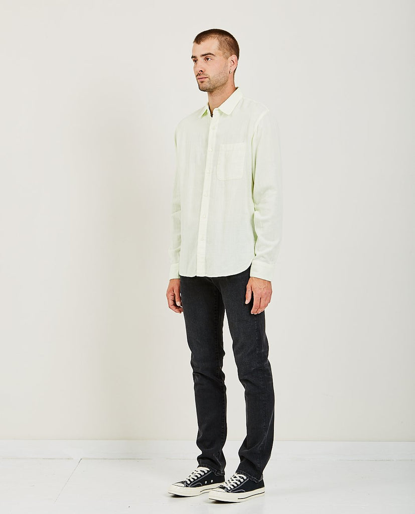 KATO-RIPPER L/S SHIRT VINTAGE DOUBLE GAUZE PASTEL GREEN-Men Shirts-{option1]