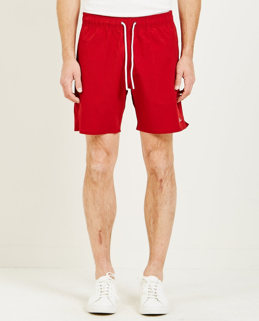 SATURDAYS NYC-RITCHIE STRETCH SHORT TRUE RED-Men Shorts-{option1]
