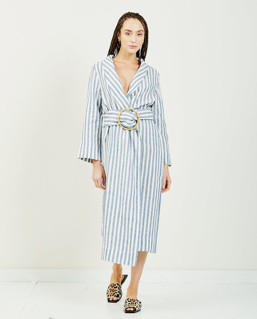 Ruled Lined Robe-SLEEPER-American Rag Cie