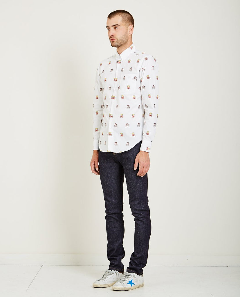 NAKED & FAMOUS-RYU+KEN JACQUARD REGULAR SHIRT-Men Shirts-{option1]