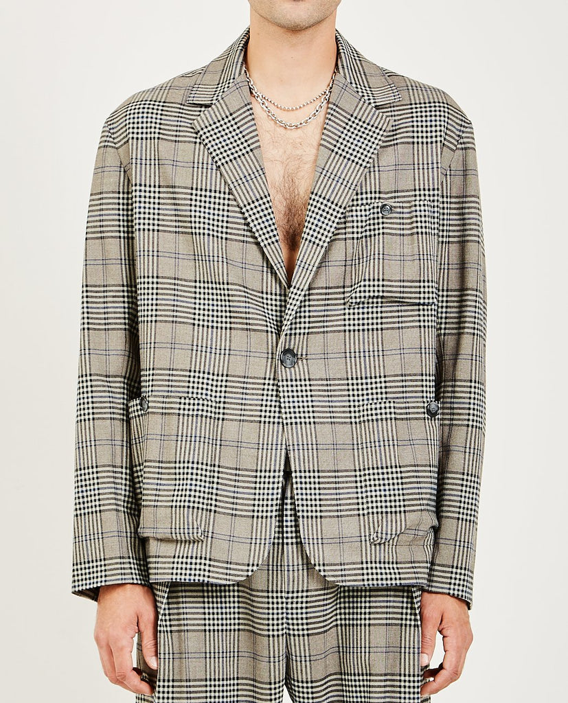 SACK POCKET ONE BUTTON JACKET-GREI NEW YORK-American Rag Cie