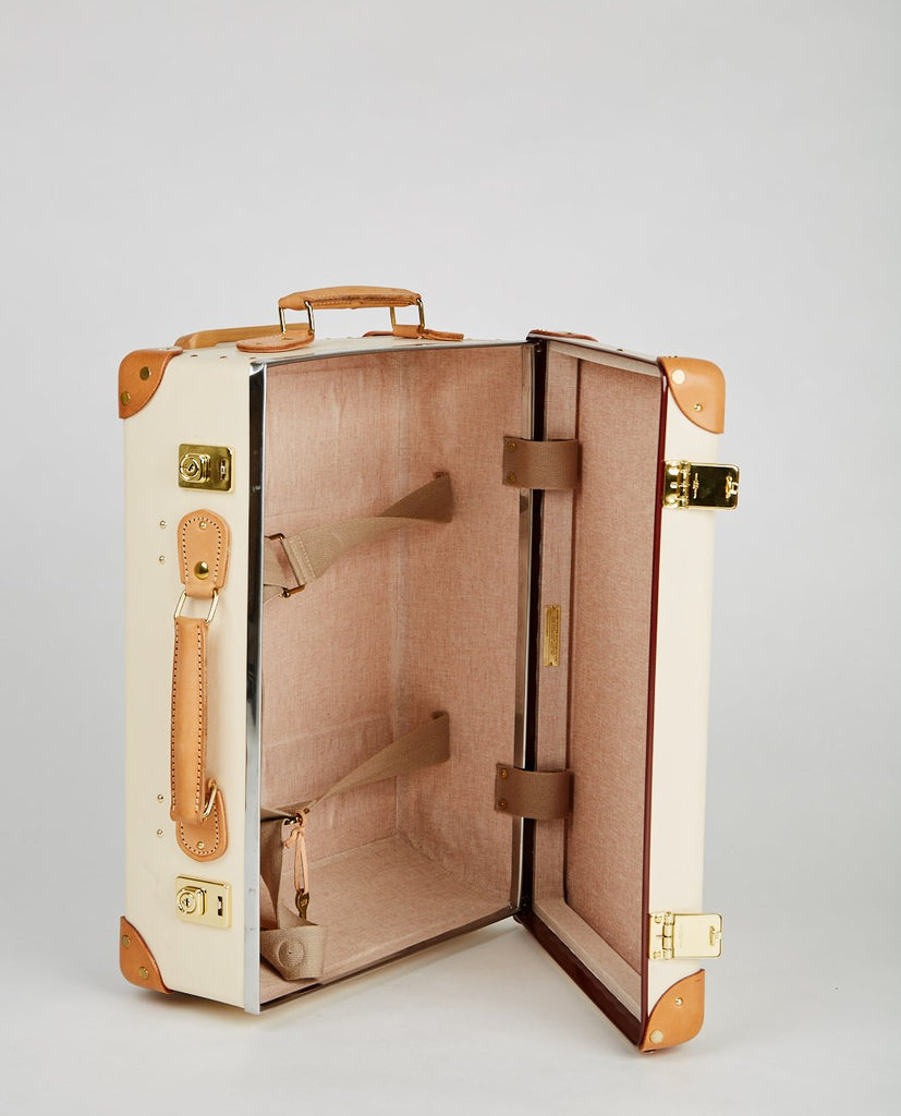 "SAFARI IVORY & NATURAL 18"" TROLLEY CASE-GLOBETROTTER-American Rag Cie"