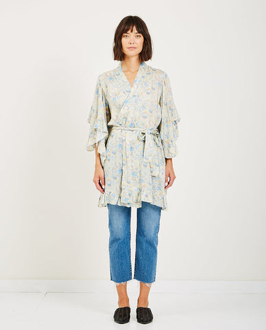 RUE STIIC FRONTIER WRAP TOP BLOSSOM
