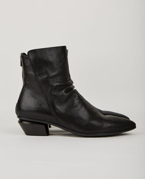 OFFICINE CREATIVE SALOME ZIP BOOTIE BLACK