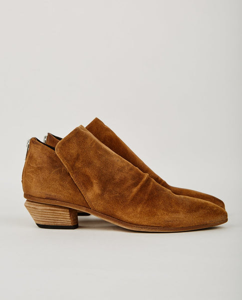OFFICINE CREATIVE SALOME ZIP BOOTIE WHISKEY BROWN