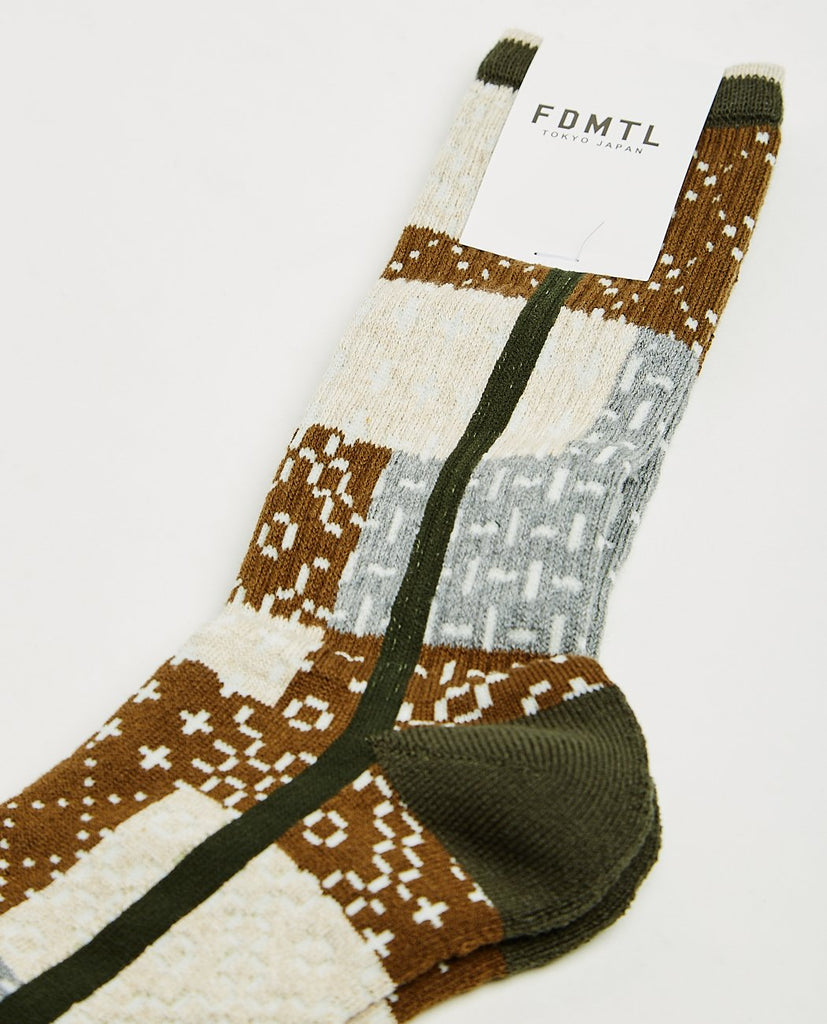 FDMTL-Sashiko Socks-Men Socks-{option1]