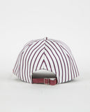 DON PARIS-SATIN STRIPED DON LOGO CAP-Women Hats & Scarves-{option1]