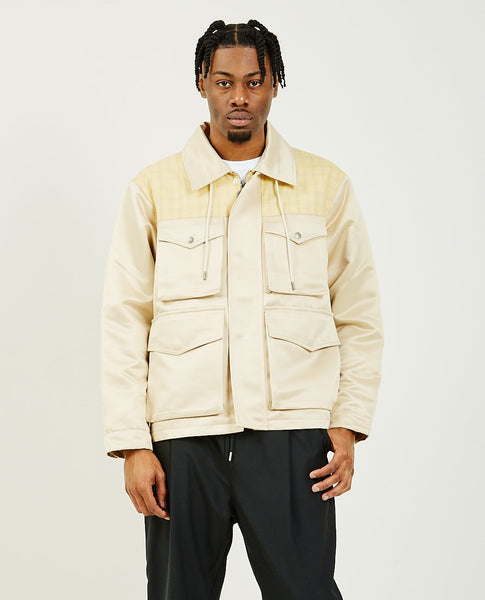 DROLE DE MONSIEUR Satin Utility Jacket