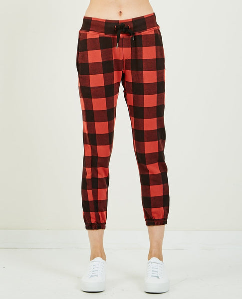 NSF SAYDE SLOUCHY SWEATPANT BUFFALO PLAID
