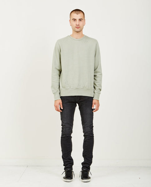 KSUBI SEEING LINES DECON SWEATSHIRT KHAKI