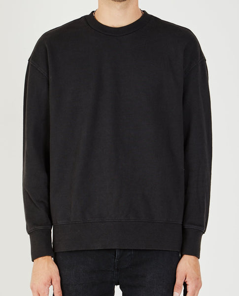 KSUBI SEEING LINES SWEATSHIRT WORN BLACK