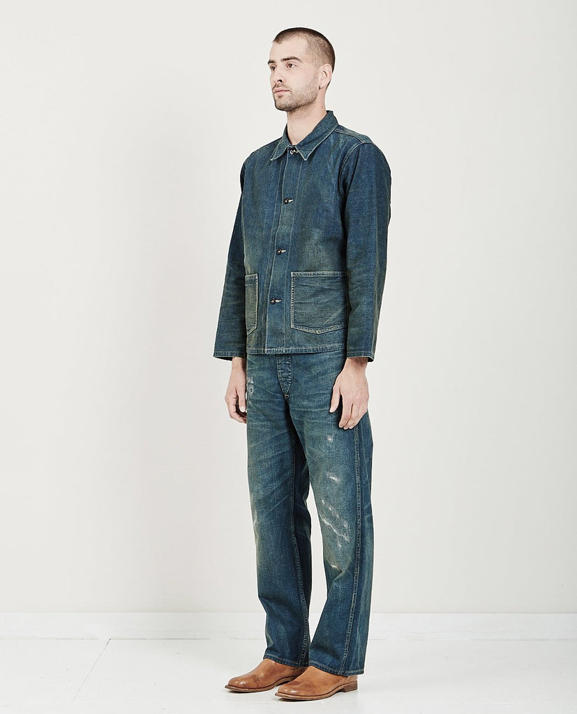 SELVEDGE DENIM WORK JACKET SWEETSPRINGS-RRL-American Rag Cie