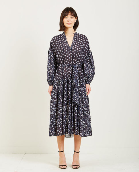 ULLA JOHNSON SELVI DRESS MIDNIGHT
