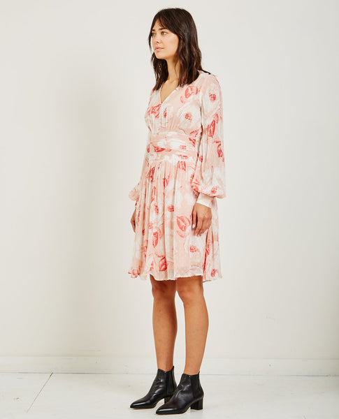 BYTIMO SEMI COUTURE BELL SLEEVE DRESS