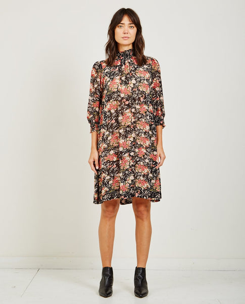 BYTIMO SEMI COUTURE HIGH NECK DRESS