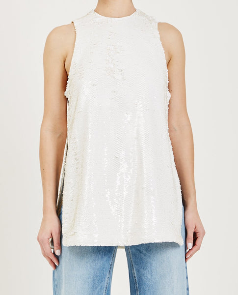 GANNI SEQUINS TOP