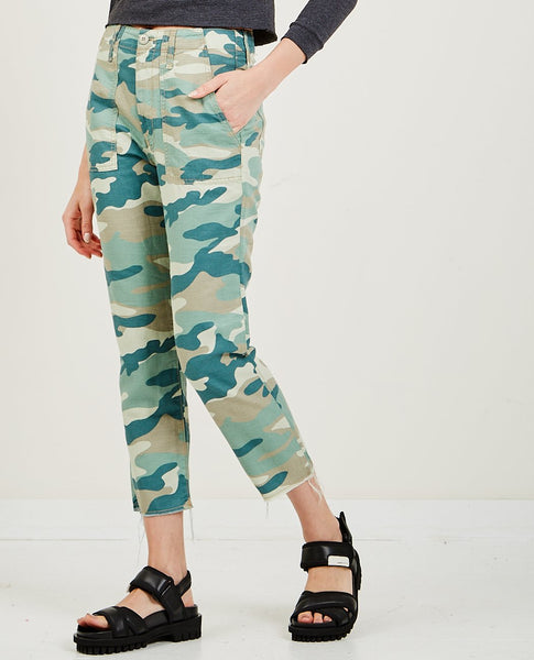 MOTHER Shaker Chop Crop Camo