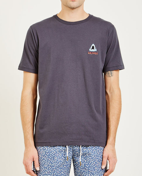BARNEY COOLS SHARK EMBROIDERED TEE