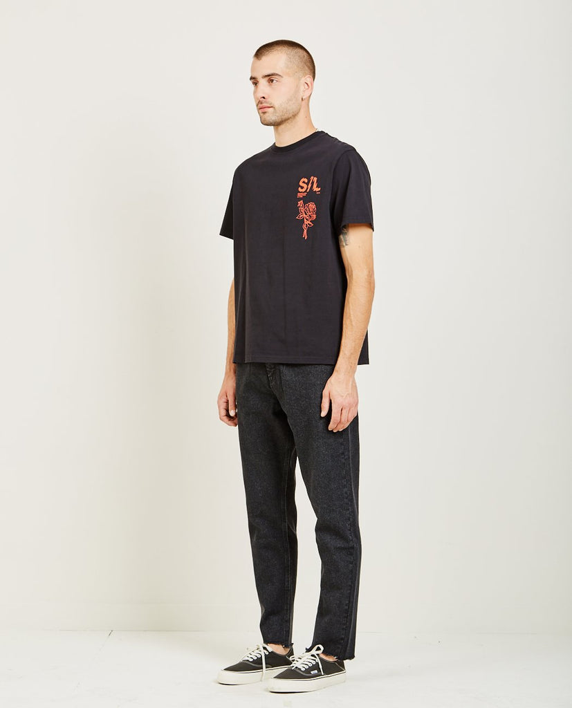 SHATTERED LOGO TEE-SECOND/LAYER-American Rag Cie