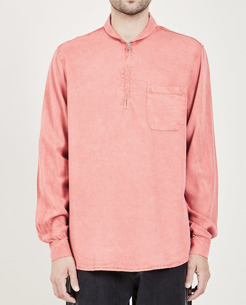 OUR LEGACY SHAWL ZIP SHIRT CLEAR RED