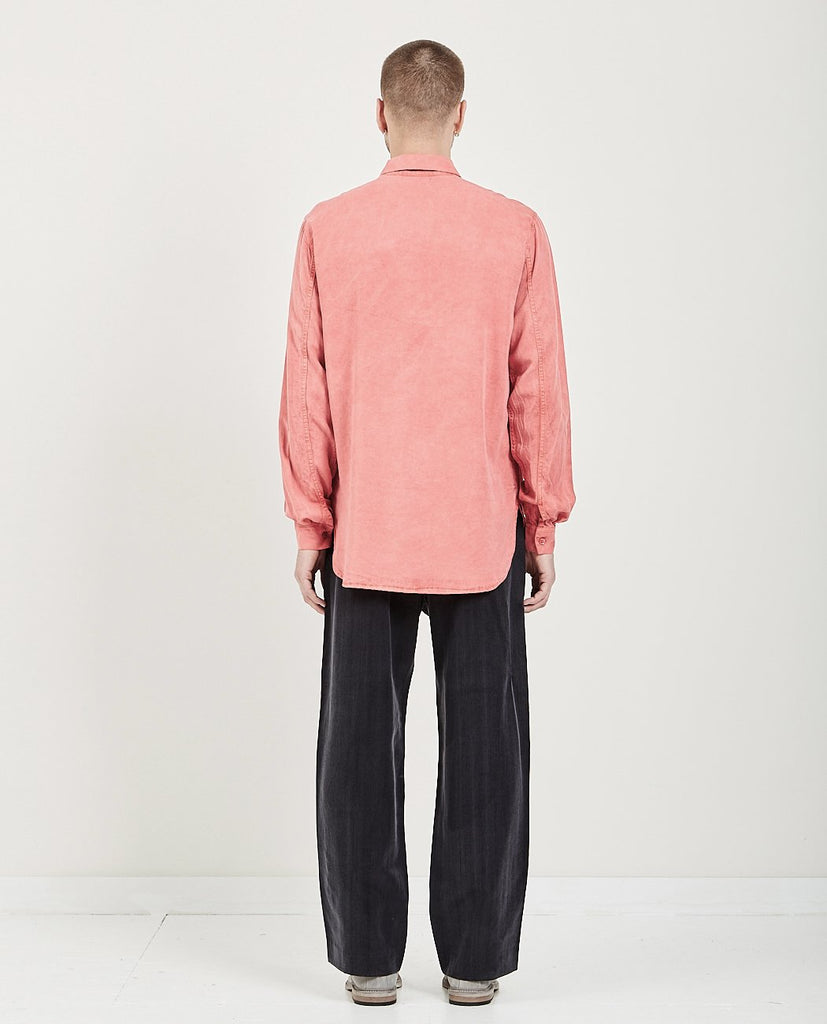 OUR LEGACY-SHAWL ZIP SHIRT CLEAR RED-Men Shirts-{option1]