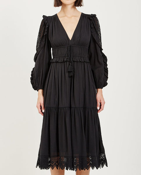 ULLA JOHNSON SHEILA DRESS NOIR