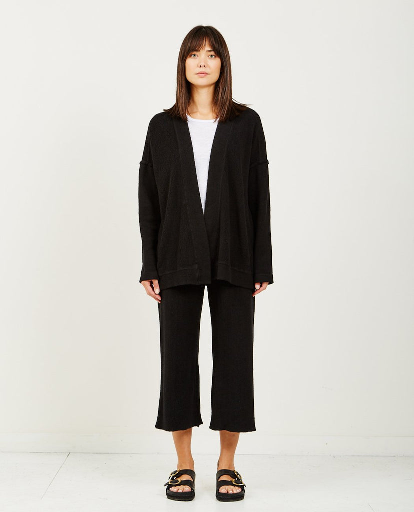 STATESIDE SHERPA CARDIGAN BLACK