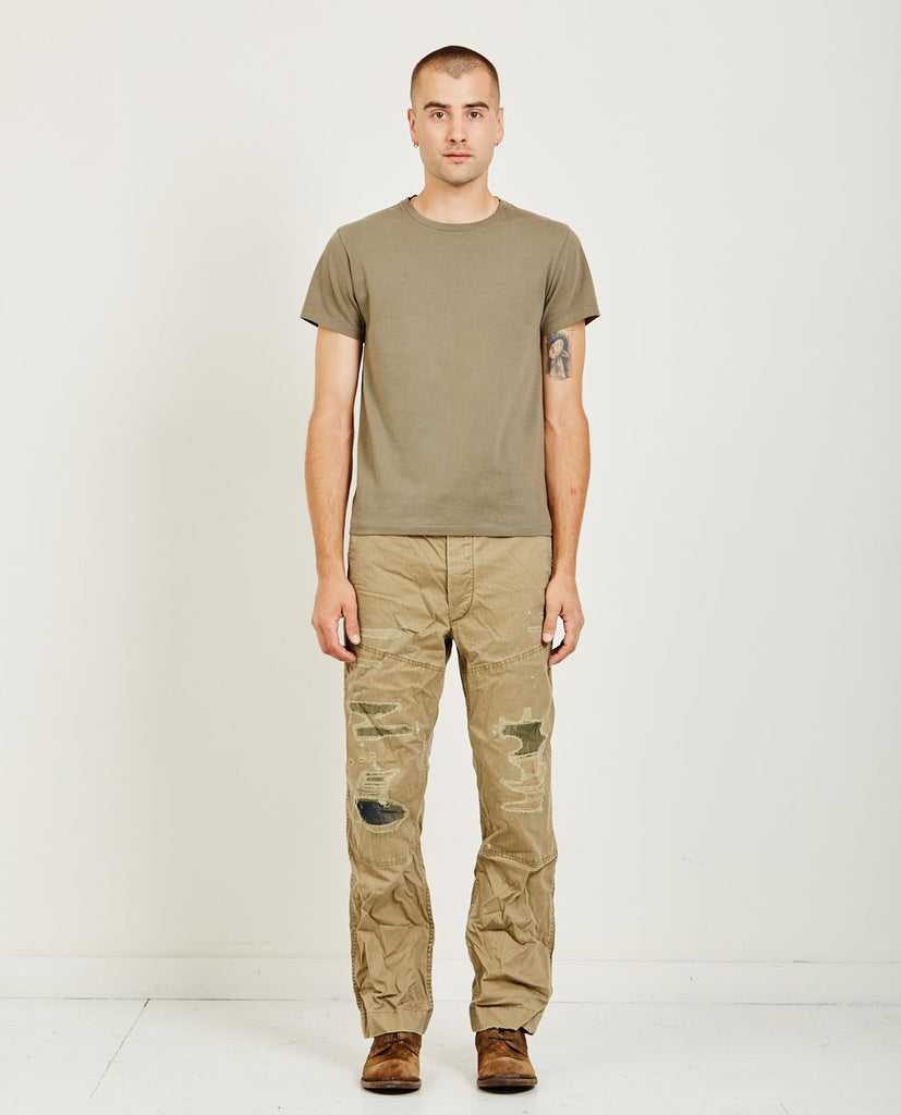 RRL-SHORT SLEEVE TUBE TEE TENT GREEN-Men Tees + Tanks-{option1]