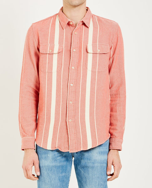 LEVI'S VINTAGE CLOTHING SHORTHORN SHIRT LONGBOARD RED