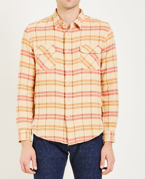 LEVI'S VINTAGE CLOTHING SHORTHORN SHIRT SUN FADED ORANGE