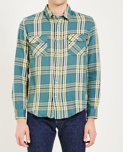 LEVI'S VINTAGE CLOTHING SHORTHORN SHIRT UNDERWATER BLUE