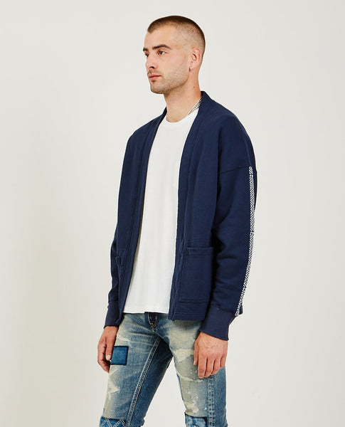 FDMTL Side Tape Haori Cardigan Navy