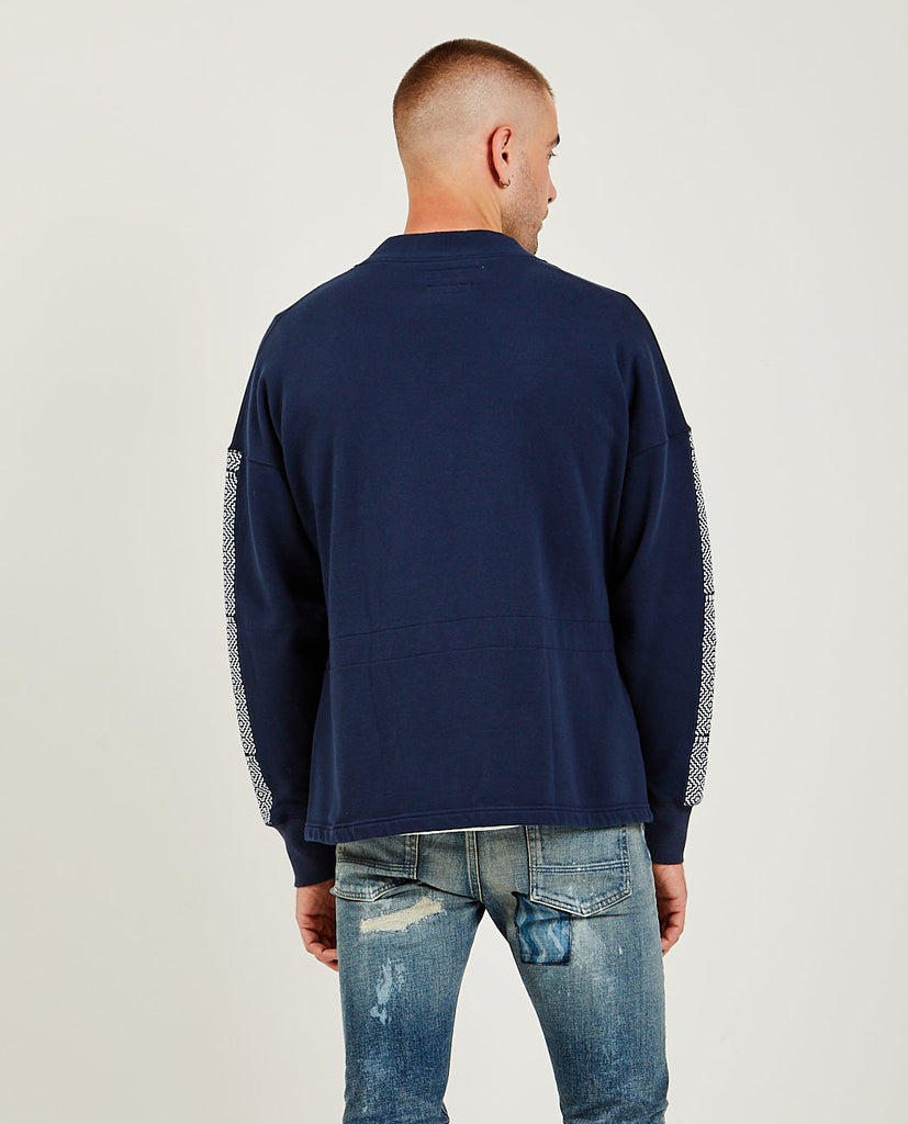 FDMTL-Side Tape Haori Cardigan Navy-Men Sweaters + Sweatshirts-{option1]