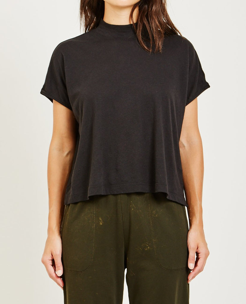 RAQUEL ALLEGRA-SIGNATURE JERSEY BOXY MOCK NECK-Blouses-{option1]