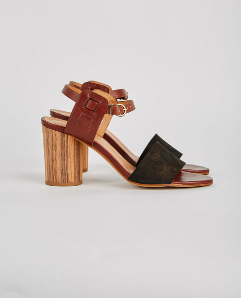 H BY HUDSON SILIA CALF OPEN TOE HEEL