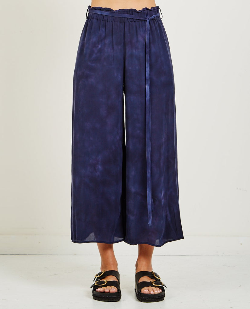 RAQUEL ALLEGRA-SILK TIE DYE CULOTTE-Women Pants-{option1]
