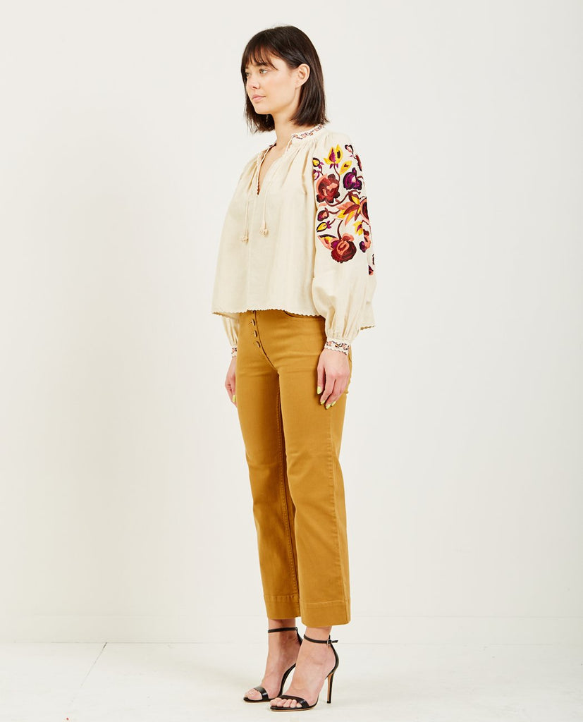 SIMONA BLOUSE NATURAL-ULLA JOHNSON-American Rag Cie