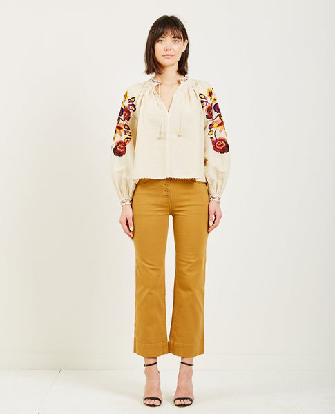 ULLA JOHNSON SIMONA BLOUSE NATURAL