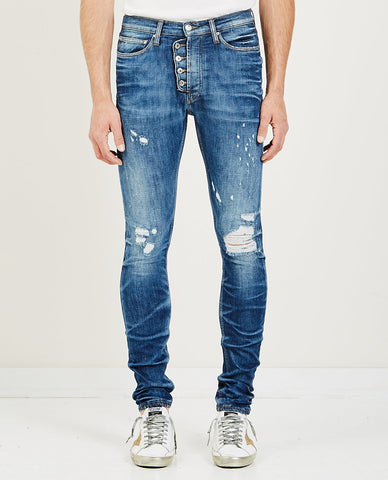 NAKED & FAMOUS WEIRD GUY JEANS KING OF SLUB
