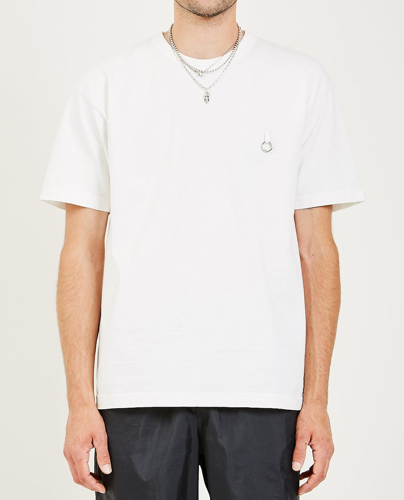 SINGLE PIERCING TEE OFF WHITE-WHOLE-American Rag Cie