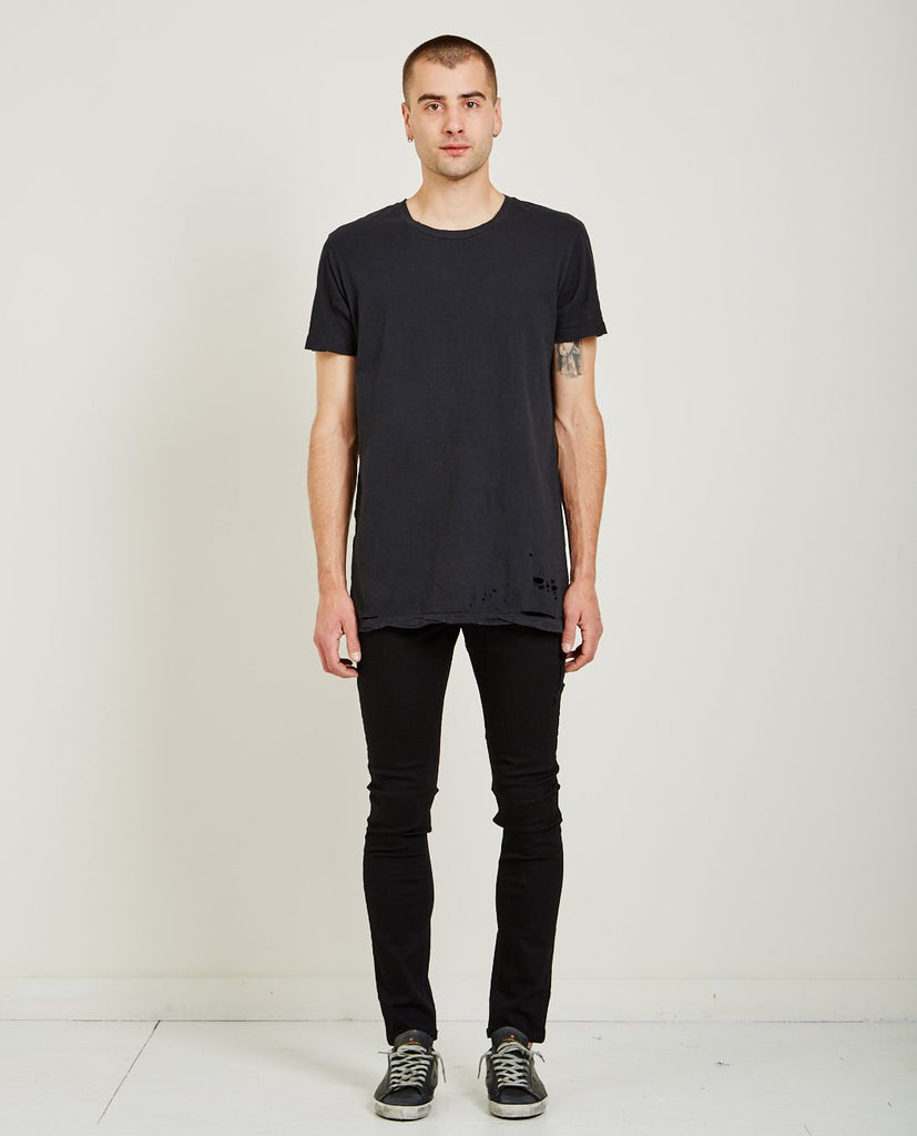 SIOUX POCKET TEE WORN IN BLACK-KSUBI-American Rag Cie